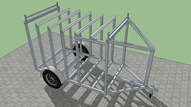 Small Cargo Trailer - 3D Warehouse