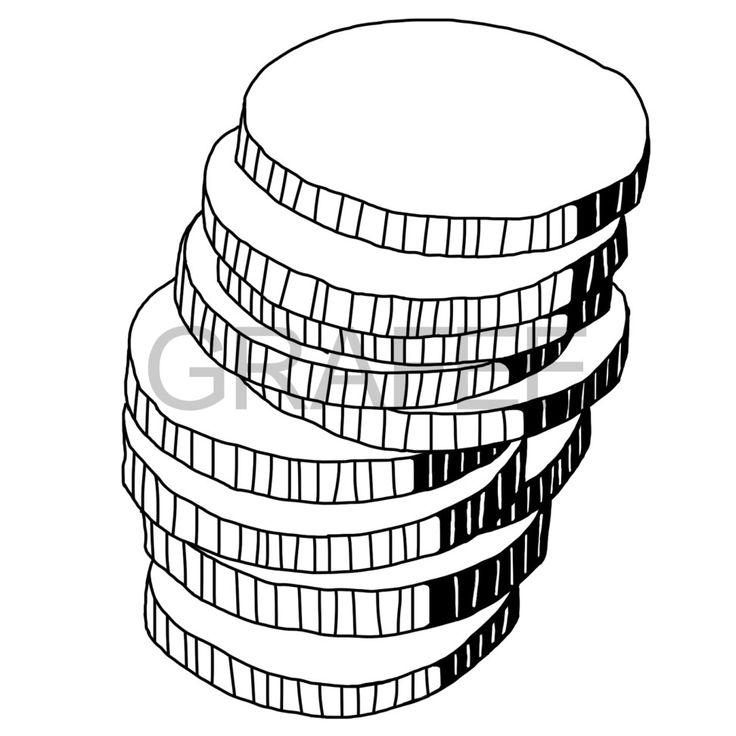 積みあげたコインのイラスト_サムネイル
