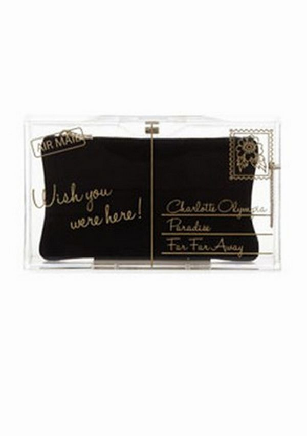 Wish you were here...with this bag. - Charlotte Olympia Pandora Wish You Were Here Box Clutch ($1,195.00)