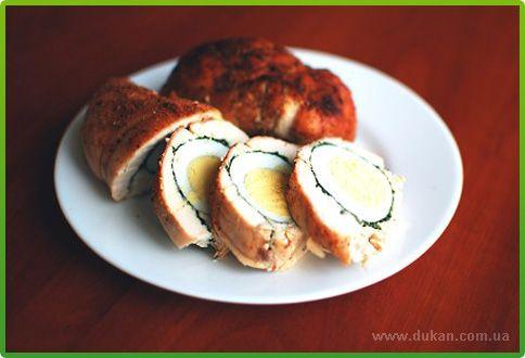 Рецепт куриного рулета для диеты Дюкана