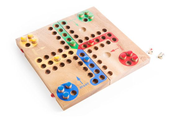 Ludo - wooden board game, wood board game, parcheesi, game, strategy wood board game, family board game, game for kids, table game