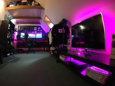 Gaming Bedroom Stunning 1648 Best Gaming Setups Images On Pinterest  Bedrooms Game Rooms Design Ideas