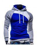 Trendy Hooded Slimming Personality Color Splicing Long Sleeves Men's Thicken Hoodies