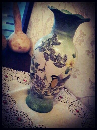 #decoupage #vase