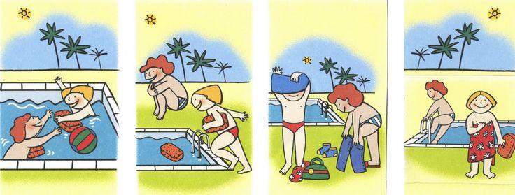 Logische volgorde zwemmen, free printable