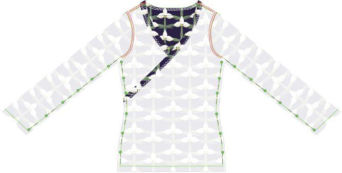 Fabrik der Träume: Kostenlose Nähanleitung und Schnittmuster für ein Damen Wickelshirt