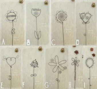fleurs pour composer soi-même un bouquet - en fil de fer : Accessoires de maison par latelierdesof