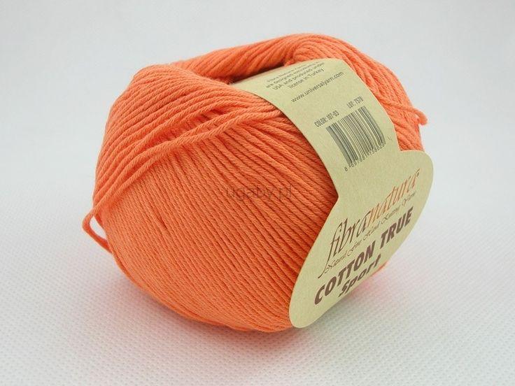 Włóczka Cotton Tru Sport kolor pomarańczowy nr 107-03 Pasmanteria U Gaby