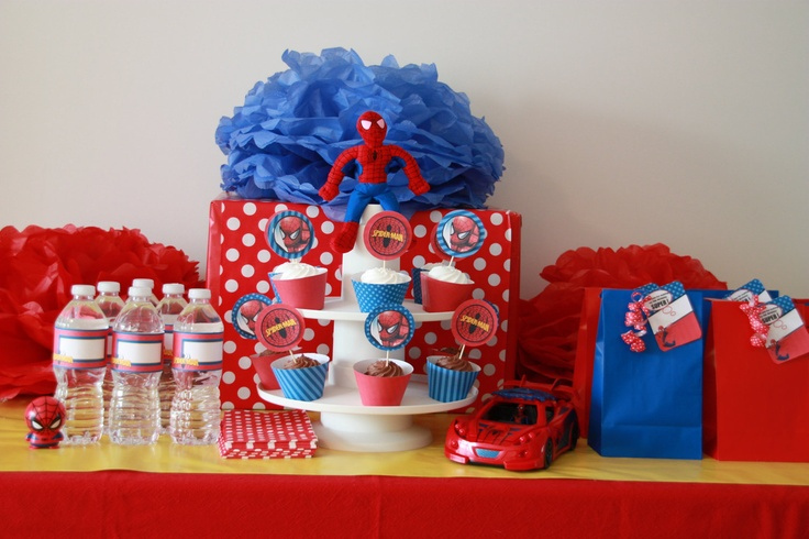 Spider-Man Party - Birthday - CUSTOMIZED Spider-Man Inspired DIY PRINTABLE Party Set