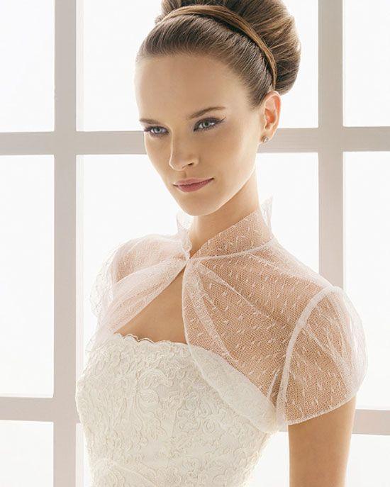 Resultado de imagen para vestido de novia con capa tipo torera