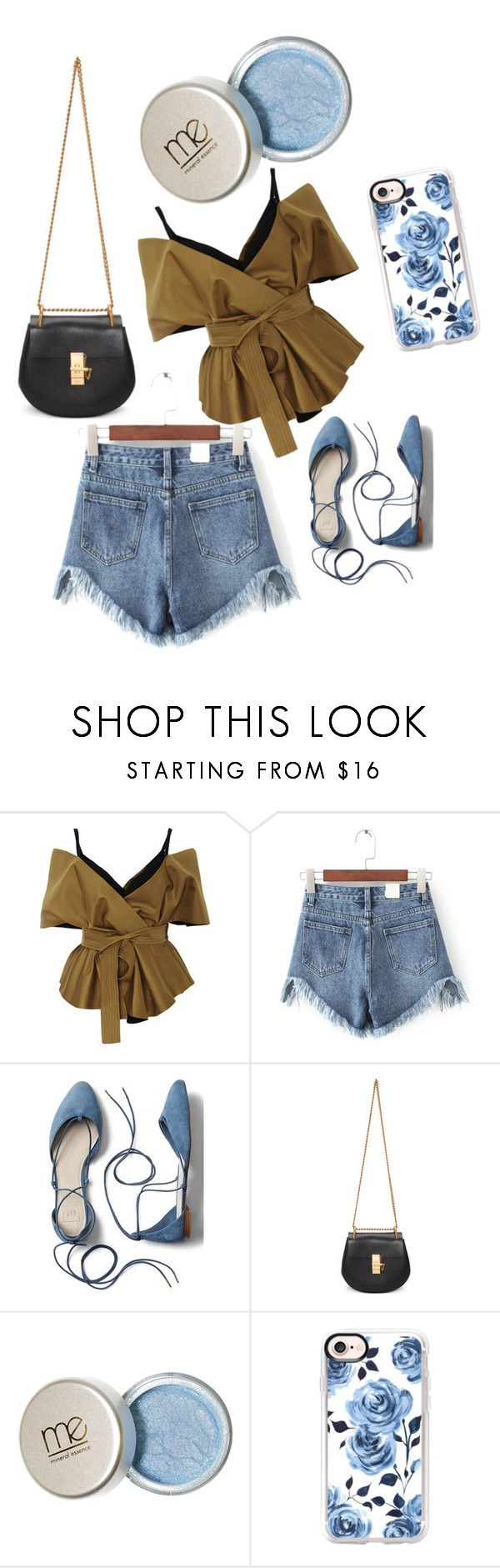 """""""baju cantik hijau lumut with jeans"""" by kristyagaki ❤ liked on Polyvore featuring Acler, WithChic, Gap, Chloé and Casetify"""
