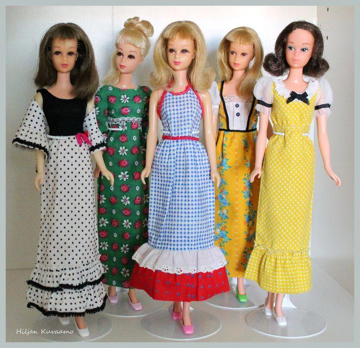 Francie group | Vintage Francies in old dresses