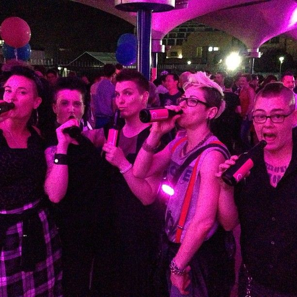 Festive times at the #Sydney #MardiGras 2013 Film Festival with #Dcider & some of their newest fans ...