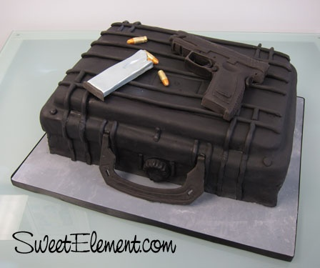 Awesome groom's cake! I am so doing this for Gib's Grooms Cake. He would be in heaven and would prolly never eat it :)