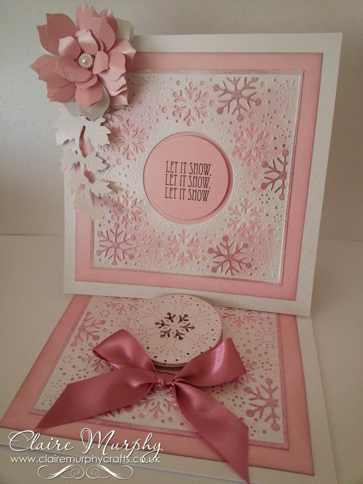 Large Card Making Ideas Part - 40: Crafters Companion Create A Card Die Softly Falling Centura Pearl Card Hint  Of Silver Large And