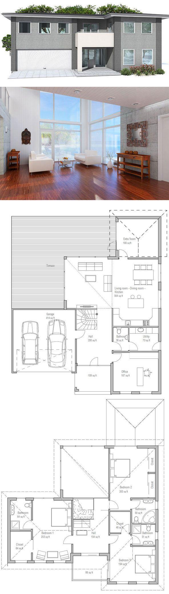 1000 id es sur le th me plans de petite maison sur pinterest plans de maiso - Plan de petite maison ...