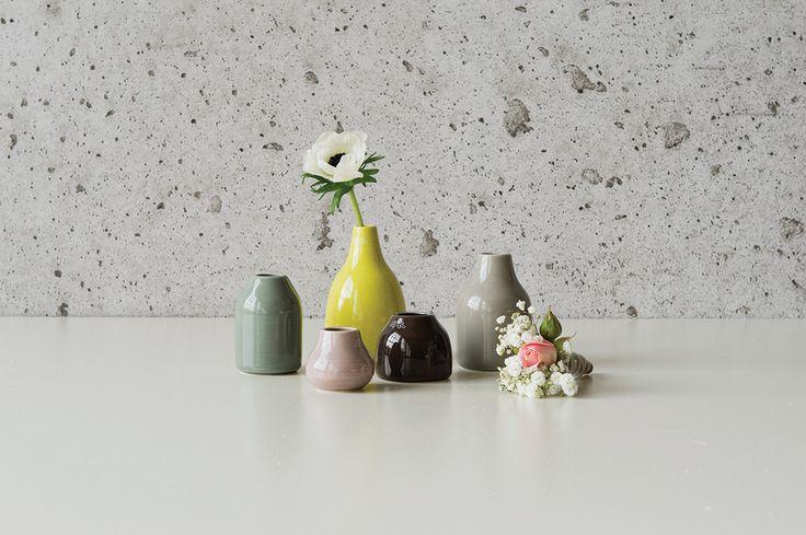 Danish Kähler Design brings you tiny, lovely vases in the Botanica series.