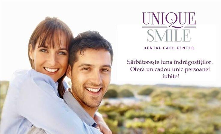 Sună în perioada 8-14 februarie 2016, stabilește o programare* la clinica noastră și persoana iubită va beneficia de aceeași manoperă** stomatologică din partea noastră! * Programarea se face în aceeași data și interval orar. ** Manoperele stomatologice sunt: consultații de specialitate, igienizare profesională, albire dentară, obturatie fizionomică. Centrul de Îngrijire Dentară UNIQUE SMILE Str. Triajului nr. 67,Șelimbăr, Sibiu Tel: 0747.071.986 #uniquesmile #valentinesday