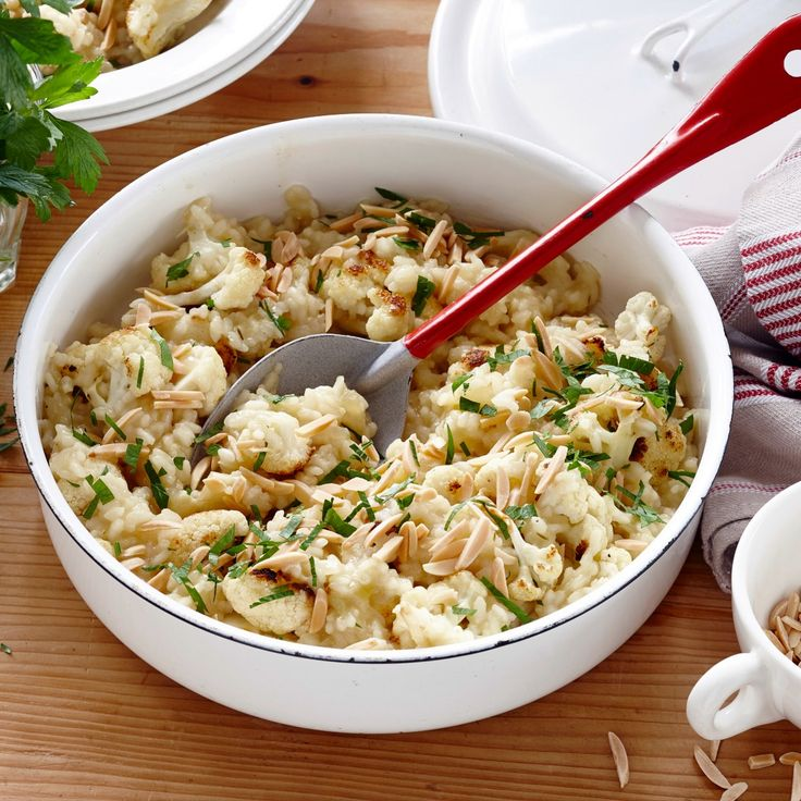 How's about this Risotto with Cauliflower for dinner tonight and lunch tomorrow?