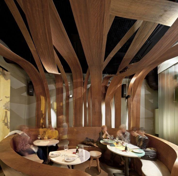 ikibana restaurant by el equipo creativo - Beaded Inset Restaurant Interior