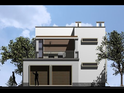 Modern House design with 4 bedrooms. Nemetschek design