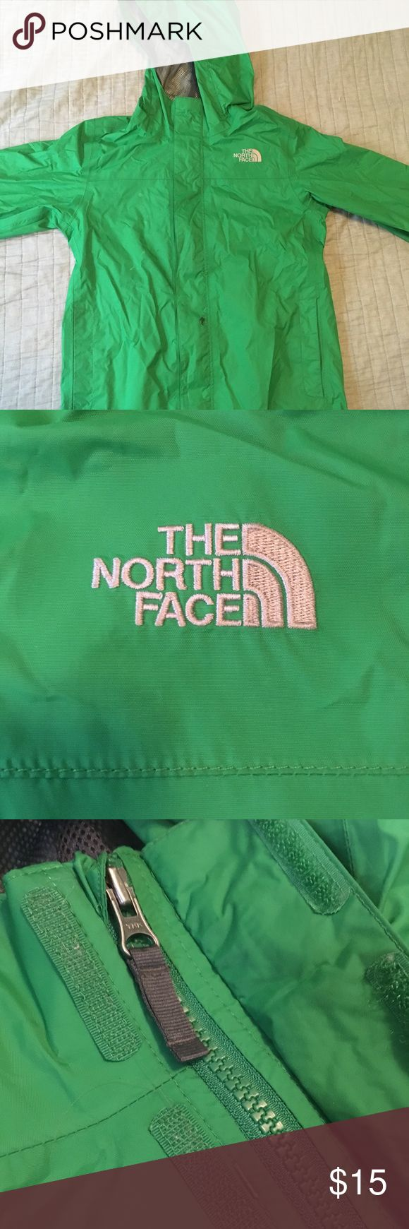 Girls north face raincoat Small stain on the zipper but it works fine The North Face Jackets & Coats