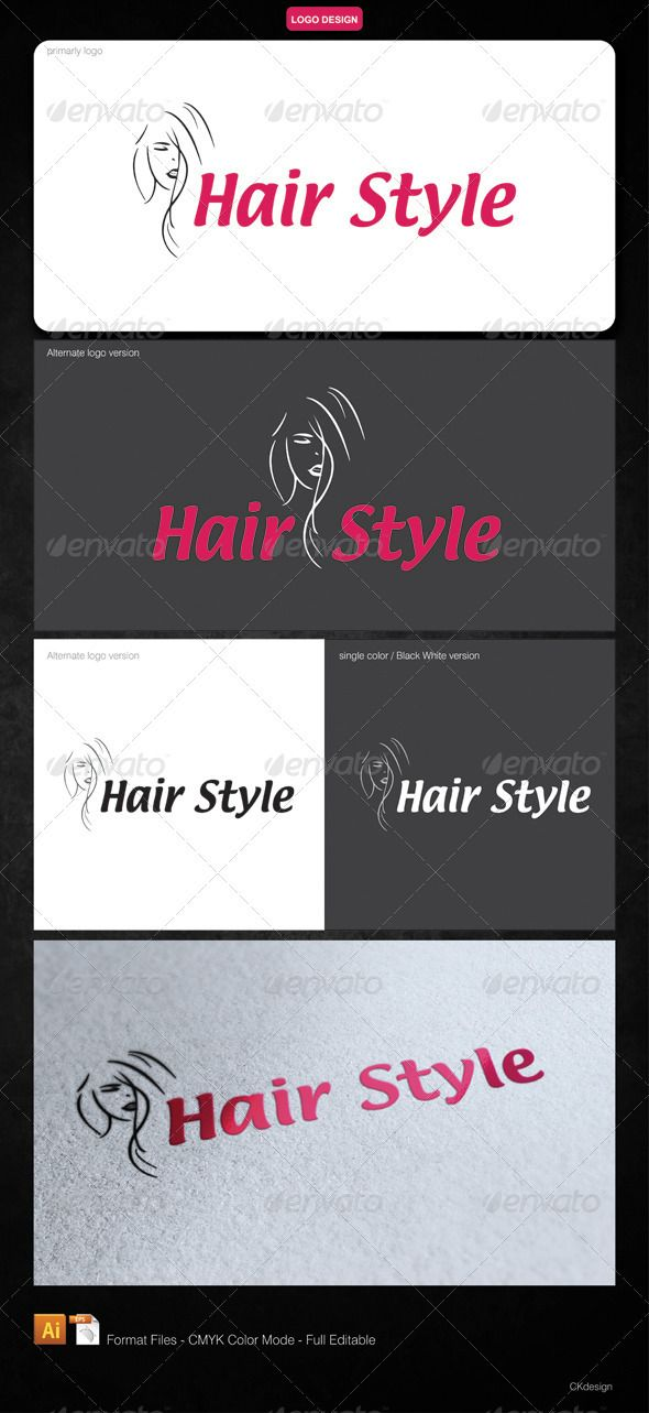 Hair Style - Logo Design Template Vector #logotype Download it here: http://graphicriver.net/item/hair-style-logo/2878649?s_rank=1791?ref=nexion