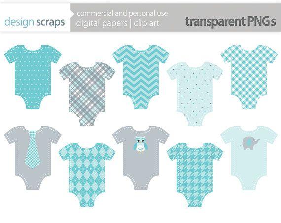 Baby Boy Clothes Clip Art Graphics Aqua Blue By