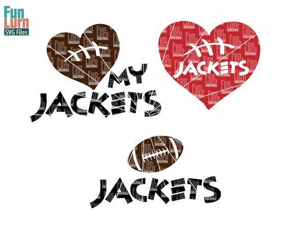 Football SVG Football season  Jackets  Football Love by FunLurnSVG