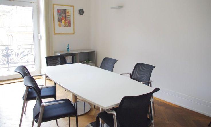 Zwei Büroräume in schöner Altbauwohnung am Börsenplatz #Büro, #Bürogemeinschaft, #Office, #Coworking, #Frankfurt