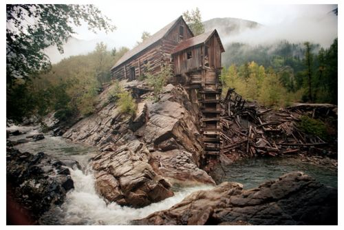 The Crystal Mill, near Aspen, Colorado, 1977: Autumn Pictures, Favorite Places, Dreams, Twin Peaks, Old Wood, Mountain Cabin, House, Aspen Colorado, Logs Cabin