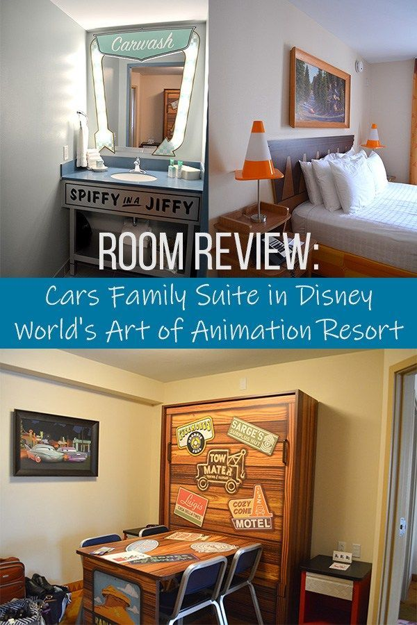 Room Review Cars Family Suite In Disney World S Art Of Animation