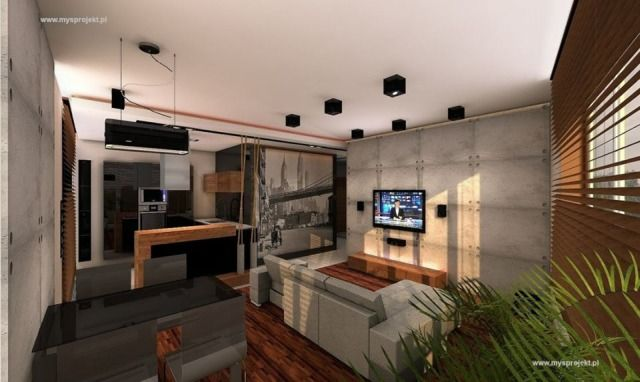 6. Wnętrze zaprojektowane przez Marka Myszkowskiego z pracowni MYSPROJEKT