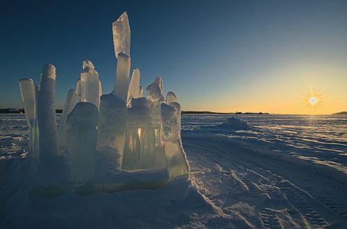 An Ice Castle Sunrise