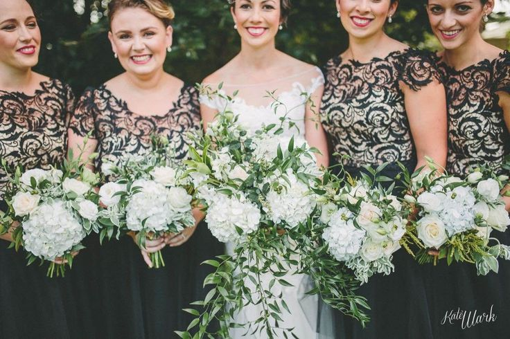 We created these four gorgeous dresses for Tiffiney's bridesmaids based off our 'Marguerite' dress