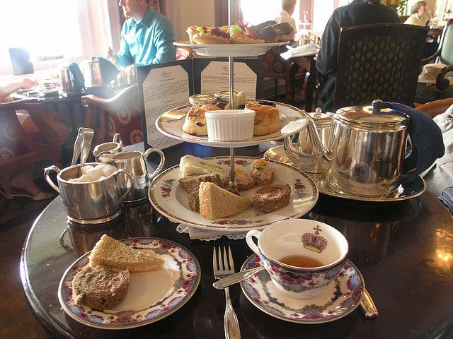 Afternoon tea at the Fairmont Empress Hotel, Victoria, Vancouver Island, British Columbia- a tradition since 1908.