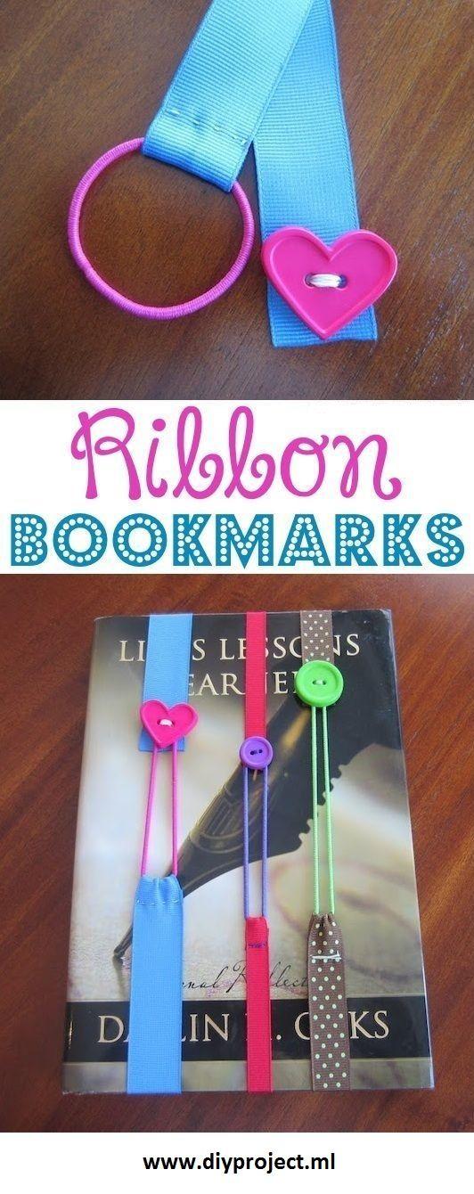 How to Make Beautiful DIY Ribbon Bookmarks