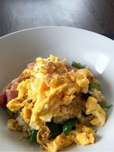 ピーマンベーコン卵の麺つゆ混ぜごはん、茄子の甘辛柚子胡椒、水菜の ...