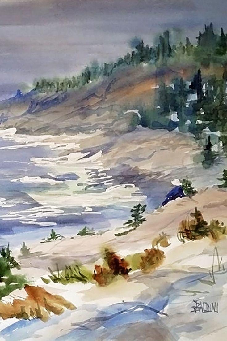 The Back Side Of Monhegan Island Maine By J R Baldini American