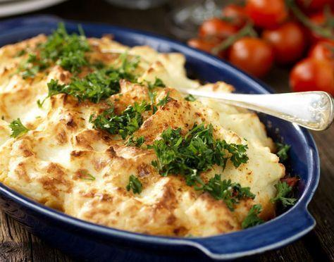 Köttfärsgratäng med potatismos - Värmande och god allt-i-ett-mat!