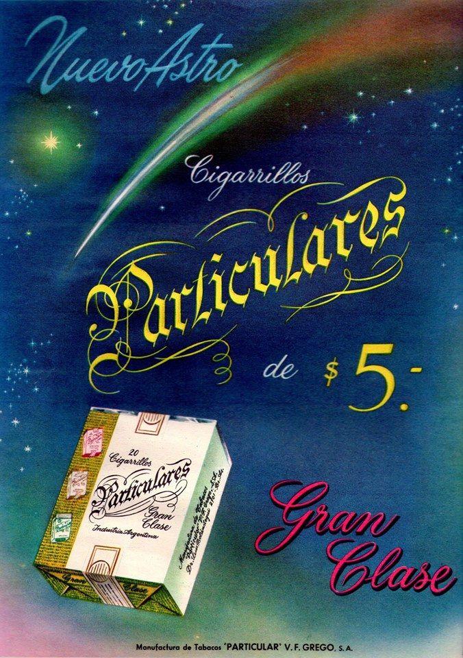 Cigarrillos PARTICULARES, Argentina, 1956.