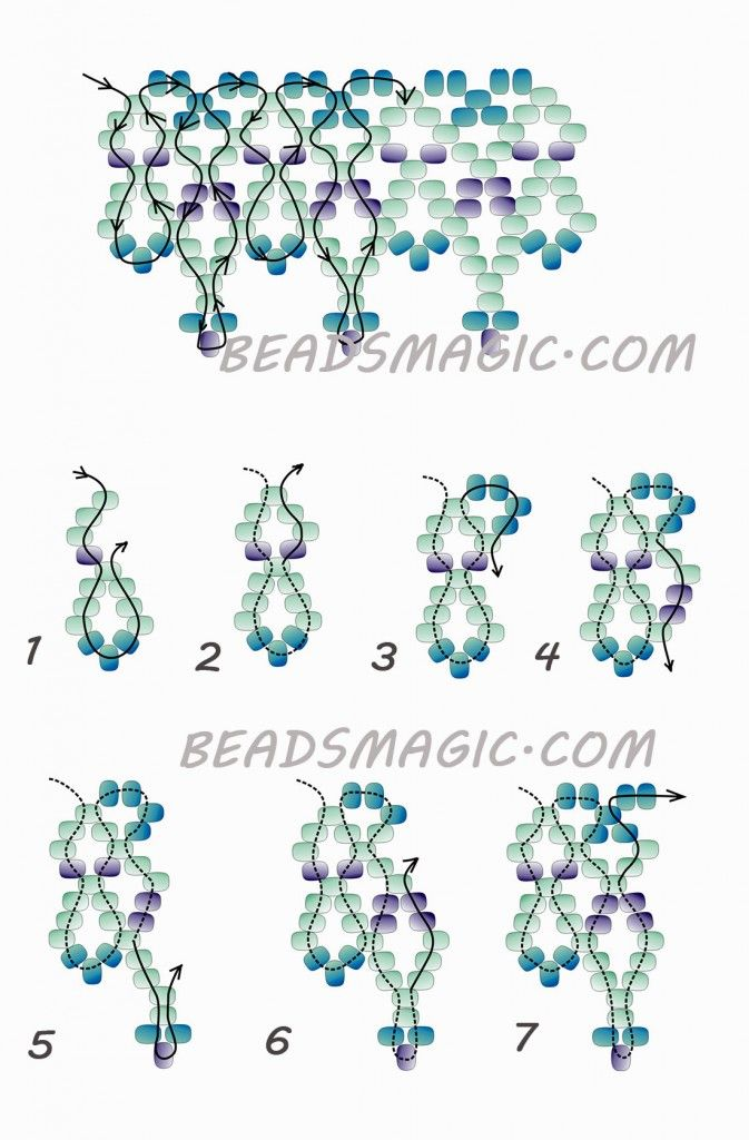 Free Beading Pattern Necklace Tutorial Instructions 2 Gyöngy