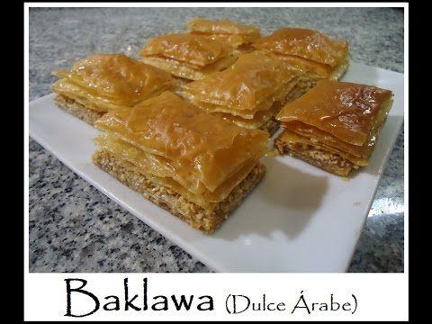 Baklawa receta de dulce árabe tradicional y delicioso - YouTube