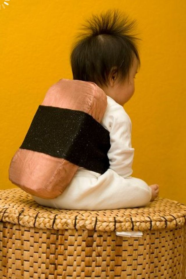 This is just too cute not to repin!  Spam Musubi, Baby!
