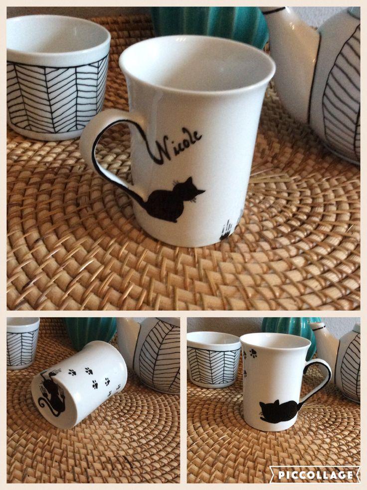 DIY - selbst gestaltetes Geschenk (Porzellanstift) für eine (Katzenliebhaber-) Freundin