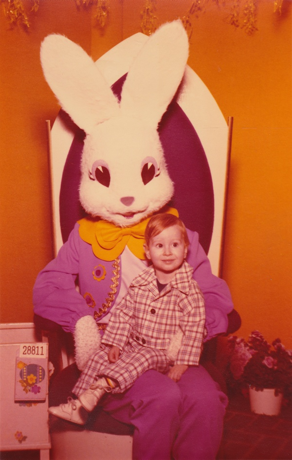 """70s - I have a picture of one of my daughters taken with a """"rabbit"""" dressed just like this in 1976!"""
