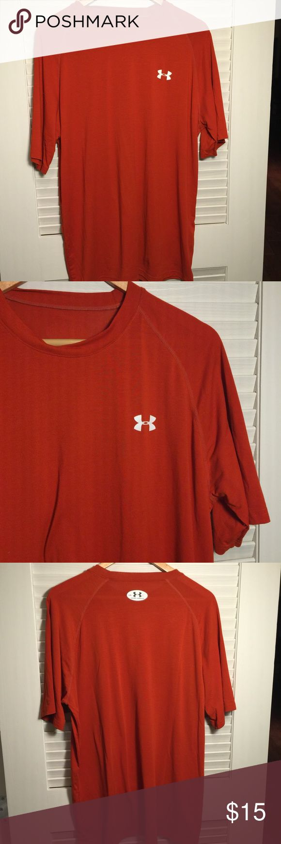 Under Armour Burnt Orange Tee In good condition Under Armour Shirts Tees - Short Sleeve