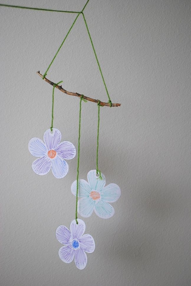 Crafts for kids make this wind chime with your toddler for Wind chime craft projects