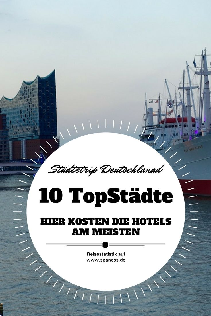 Urlaub & Reise: In diesen Städten findet ihr die teuersten Hotels in Deutschland. Hamburg belegt aktuell Platz 7.