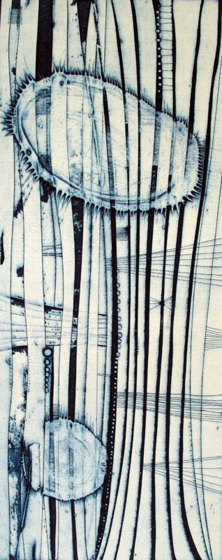 WE ARE BREATHING TOO , collagraph by Tessa Horrocks